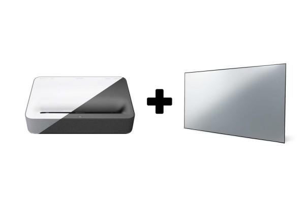 Vava | 4K Laser TV Bundle mit 100 Zoll VAVA CLR Leinwand weiß oder schwarz